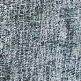Lexi - Ocean - Patchy 100% polyester fabric patterned with dark marine blue-grey coloured lines on a paler grey background