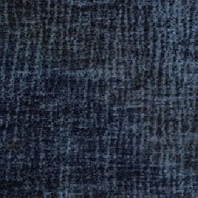 Lexi - Blue Steel - Fabric made from 100% polyester with a random, uneven vertical line pattern intwo similar dark shades of midnight blue