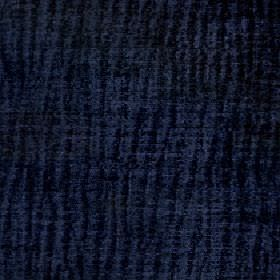 Lexi - Dusk Blue - Midnight blue and black coloured vertical stripes running down 100% polyester fabric in a patchy, random, uneven design