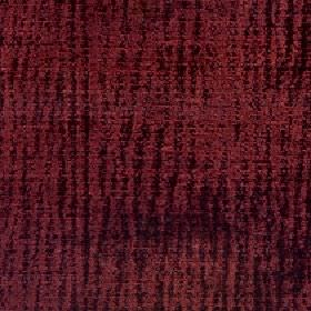 Lexi - Rosewood - 100% polyester fabric made in two dark shades of burgundy with a vertical line pattern which is random, patchy & uneven