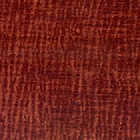 Lexi - Tigerlilly - Fabric made from terracotta and blood red coloured 100% polyester with a random, uneven vertical stripe pattern
