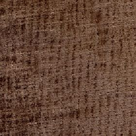 Lexi - Chesnut - 100% polyester fabric made in chocolate brown, with a pattern of random vertical lines in a slightly darker shade