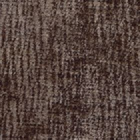 Lexi - Simply Taupe - Very dark shades of grey and brown making up a patchy design of random vertical lines on 100% polyester fabric