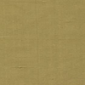 Java - Palm - 100% silk fabric made in olive green with no pattern