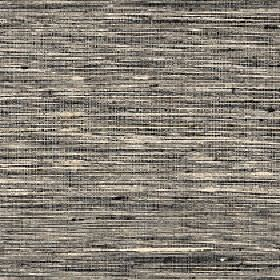Pacific - Aluminium - Dark grey and cream coloured 100% silk fabric finished with a streaky horizontal pattern