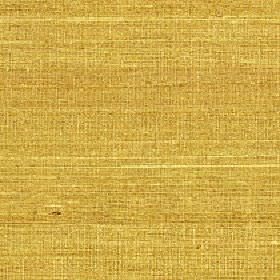 Pacific - Moss - Canary yellow and honey coloured fabric made from 100% silk with a streaky pattern which is horizontal and very subtle