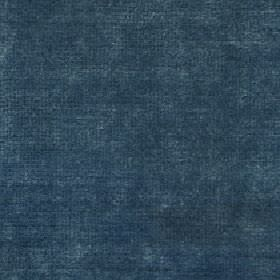 Luxor - Mineral Blue - Slightly patchy fabric made from viscose and linen in light grey and very dark marine blue