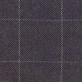 Kersey - Dark Earth - Fabric made from merino wool and nylon with a simple grid and herringbone pattern in several dark blue and grey shades