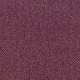 Kentwell - Rosewood - A very subtle herringbone style pattern covering merino wool and nylon blend fabric in maroon and dark purple colours