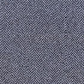 Kentwell - Pewter - Fabric made from dark grey and light grey coloured herringbone patterned merino wool and nylon