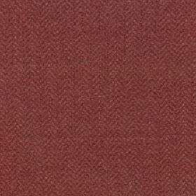 Kentwell - Autumn Ginger - Fabric made from dark red and brick red coloured merino wool and nylon with a herringbone pattern which is small and