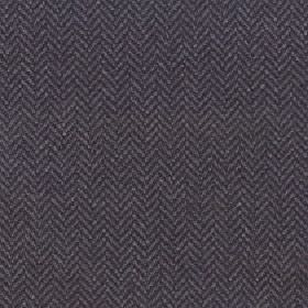 Kentwell - Dark Earth - Two dark shades of grey making up a simple herringbone pattern on merino wool and nylon blend fabric