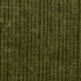 Mercardo - Moss - Fabric blended from cotton and viscose with a vertical stripe and patchily coloured design in dark forest green shades