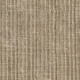 Mercardo - Oyster - Fabric made with light cream and brown coloured vertical stripes and a slightly patchy mixed cotton and viscose content