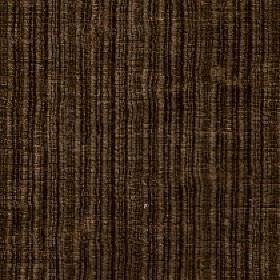 Mercardo - Cocoa - Fabric made from dark brown and black coloured cotton and viscose with a vertical stripe design and a subtle patchy finish