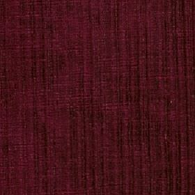 Mercardo - Ruby - A patchy finish and subtle vertical stripes patterning dark maroon coloured cotton and viscose blend fabric
