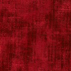Mercardo - Red - Fabric made in a rich ruby red colour from a blend of cotton and viscose with a patchy finish and subtle vertical stripes