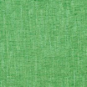 Delano - Forest Green - Bright green polyester, cotton, viscose and linen blend fabric featuring a few white coloured threads and streaks