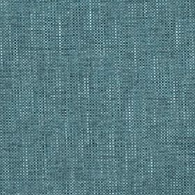 Delano - Teal - A few white threads running through dark teal coloured fabric made with a polyester, cotton, viscose and linen blend