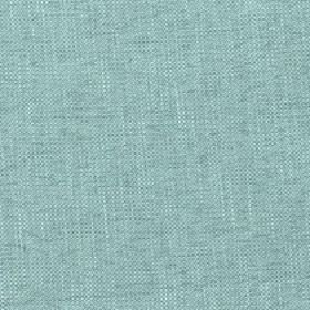 Delano - Turquoise - Slightly streaky polyester, cotton, viscose and linen blend fabric made in a light shade of  aqua blue