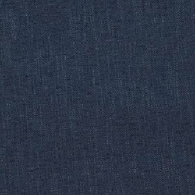 Delano - Dusk Blue - Polyester, cotton, viscose and linen woven together into a dark navy blue coloured unpatterned fabric