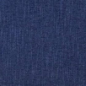 Delano - Limoges - Ink blue coloured polyester, cotton, viscose and linen blend fabric made with a very slightly patchy finish