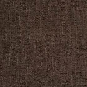 Delano - Dark Earth - Fabric made from polyester, cotton, viscose and linen in a very dark shade of brown with a very subtle patchy finish