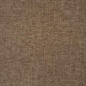 Delano - Otter - Slightly patchy fabric made from polyester, cotton, viscose and linen in shades of walnut brown