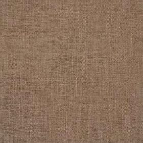 Delano - Walnut - Dark coffee coloured fabric made with a very subtle patchy effect and a polyester, cotton, viscose and linen blend