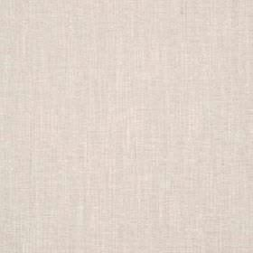 Delano - Oyster - Plain parchment coloured polyester, cotton, viscose and linen blend fabric