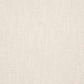 Delano - Cream - Fabric made from a plain blend of polyester, cotton, viscose and linen in an extremely pale shade of grey-white