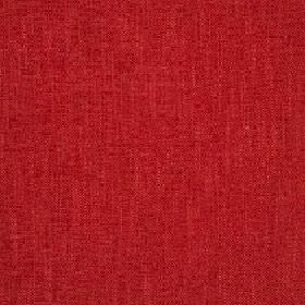 Delano - Poppy Red - Fabric made from polyester, cotton, viscose and linen in a very bright, plain shade of ruby red