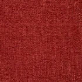 Delano - Cherry  - Very slightly patchy fabric made from a dark red coloured blend of polyester, cotton, viscose and linen