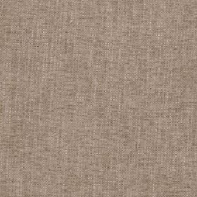Delano - Woodsmoke - A few subtle cream coloured threads streaking through polyester, cotton, viscose and linen blend fabric in light brown