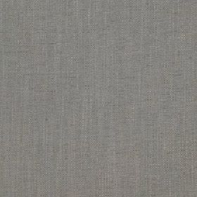 Delano - Putty - Very subtle streaks patterning dull iron grey fabric made with a polyester, cotton, viscose and linen blended content