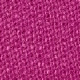 Delano - Sangria - Hot pink coloured polyester, cotton, viscose and linen blend fabric woven with a few threads and streaks in white