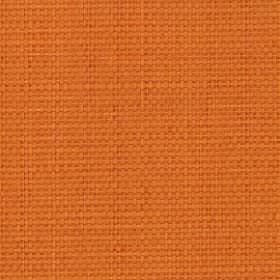 Nova - Tangerine - Bright orange coloured cotton and linen blend fabric made with no pattern