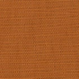 Nova - Paprika - Russet coloured threads woven together into an unpatterned cotton and linen blend fabric