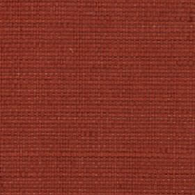 Nova - Chili - Brick red coloured fabric made from cotton and linen with a very slight, subtle burnt orange tinge