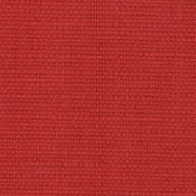 Nova - Red - Bright red coloured fabric made from an unpatterned blend of cotton and linen
