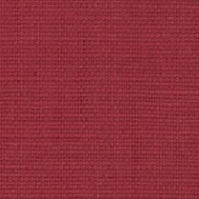 Nova - Cherry - Fabric made from an unpatterned, cherry coloured blend of cotton and linen