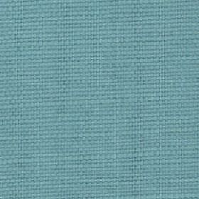 Nova - Aqua - Aquamarine coloured cotton and linen blend fabric made with no pattern
