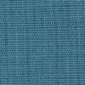 Nova - Turquoise - Cotton and linen blend fabric made in a plain, deep shade of marine blue