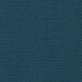 Nova - Teal - A flat, dark shade of marine blue covering cotton and linen blend fabric with no pattern