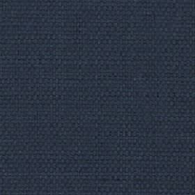 Nova - Indigo - Unpatterned midnight blue coloured cotton and linen blend fabric
