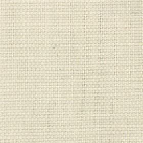 Nova - Ivory - Fabric made from cotton and linen in a plain, very pale shade of yellow