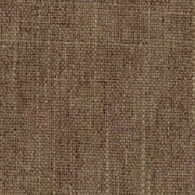 Palamino - Sepia - Fabric made from brown polyester and viscose, woven with a few threads in deep red, cream and dusky green colours