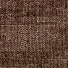 Palamino - Coconut - Beige and dark maroon coloured threads woven into a walnut brown coloured polyester and viscose blend fabric
