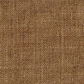 Palamino - Nutmeg - Fabric woven from dark caramel coloured polyester and viscose with a subtle streaked design in cream and dark red