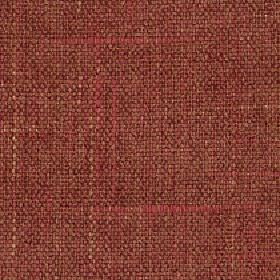 Palamino - Pompeii - Cream and tomato red coloured threads running through a woven brown and burgundy polyester and viscose blend fabric